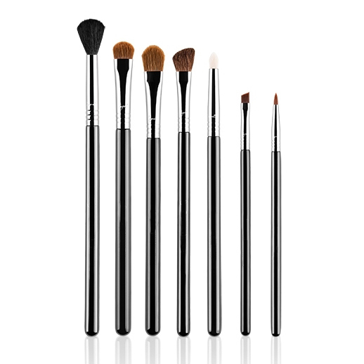 2018 HOT 10pcs CLASSIC custom logo cosmetics eye makeup brushes high quality goat hair make up brushes