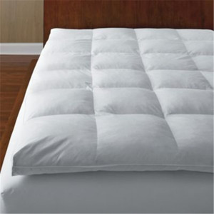 High Quality Polyester Microfiber Bed Mattress Pad Mattress Topper with cotton fabric