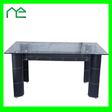2017 New Products Black Glass Dining Table