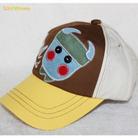 custom cute cow embroidered kids baby cotton baseball cap