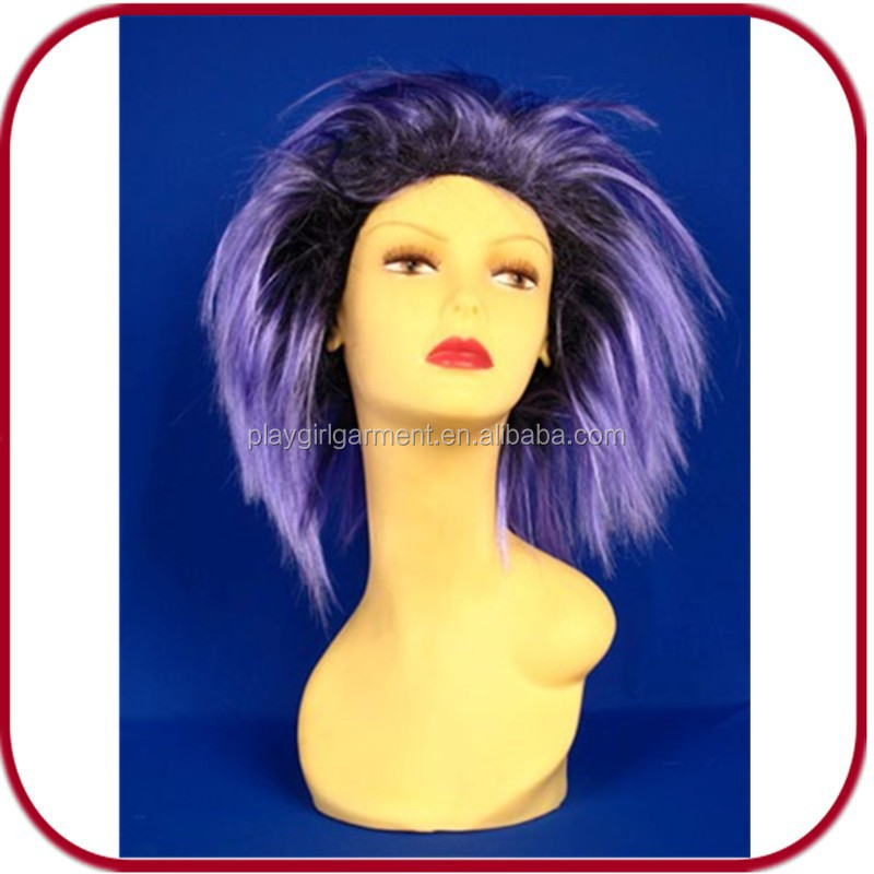 purple and black hair carnival wig Synthetic Wigs PGW-1910