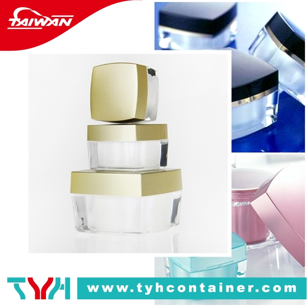 Double wall acrylic cream jar, Double wall care product jar, Double wall jar and cap