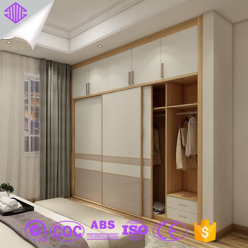Double Color Wardrobe Design Furniture Bedroom Sunmica ...