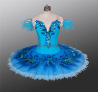 Professional High Quality 12 Layers Cheap Classical Girls Blue Bird Ballet Tutu Costumes