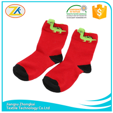 funny green dragon animal kids children socks