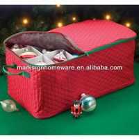 Cotton Quilted Christmas Ornament Storage Box