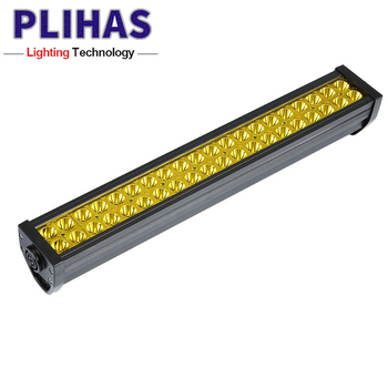 Wholesale 55cm 120w led emergency light bar yellow double rows led lamp bars led spotlight for trucks