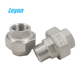 Class150 hydraulic union fitting stainless steel pipe fitting male& female NPT threaded flat union SS304/316 pipe fitting union