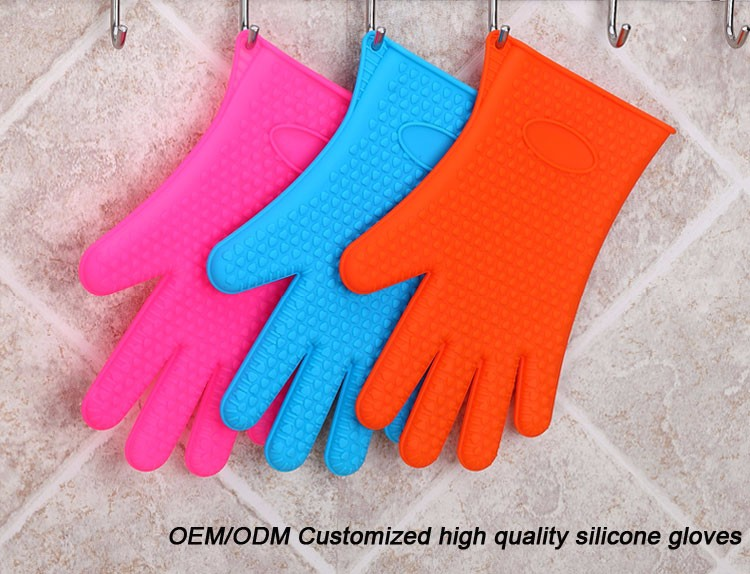 Industrial Thickening Silicone Heat Resistant Bakers Oven Gloves