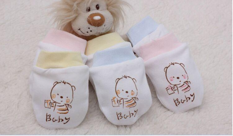 100% хлопок детские доказательство перчатки весна 0-3months комфортно дышать свободно детские перчатки новорожденных перчатки новорожденных детские варежки B020