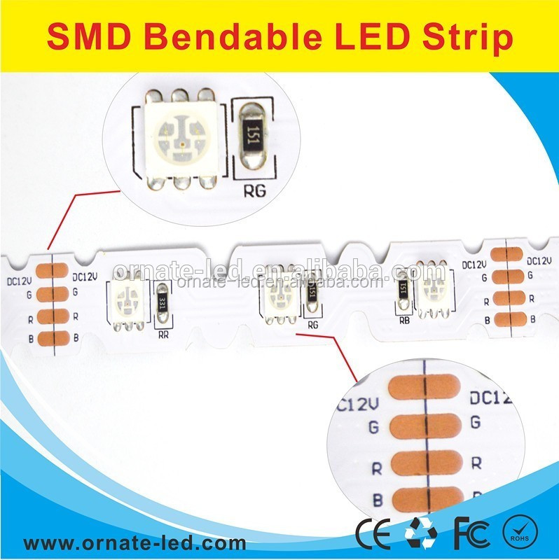 DC12V Non-waterproof LED 5050 SMD 42leds/m bendable Flexible Strips ribbon flexible S Shape LED strip