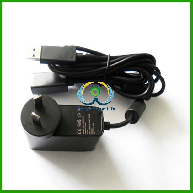 AU Plug Power Supply AC USB Kinect Sensor Adapter for Xbox & for Xbox 360 & for Xbox 360 Slim