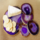 Semiprecious stone agate slices for food tray