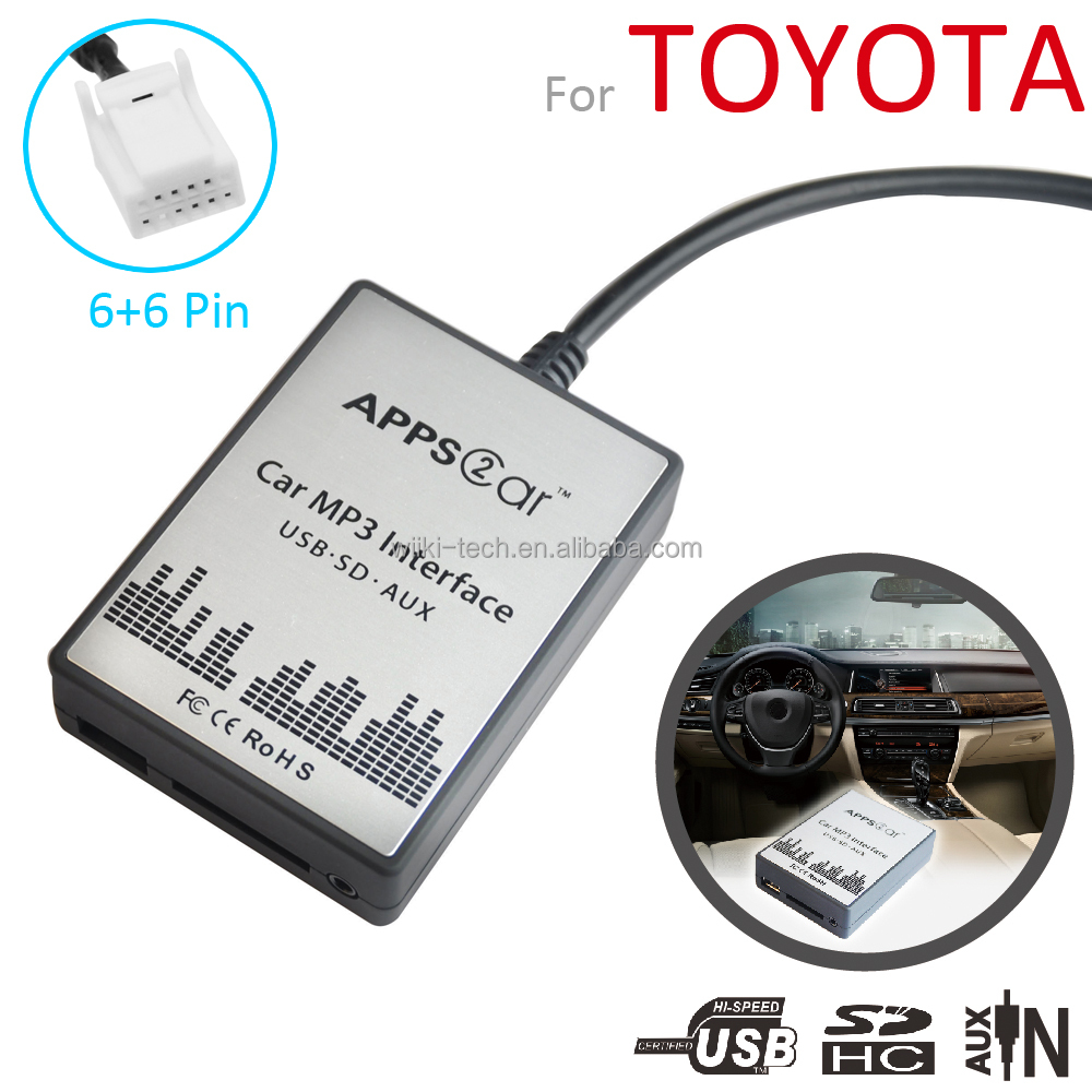 2016 usb aux adapter for toyota ,car mp3 player,apps2car car interface with usb sd aux