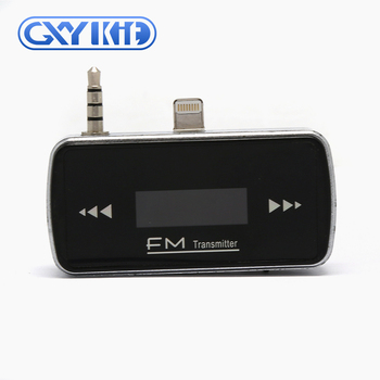 GXYKIT Wireless Mini Universal 3.5mm Jack F6 In-Car FM Transmitter for iphone