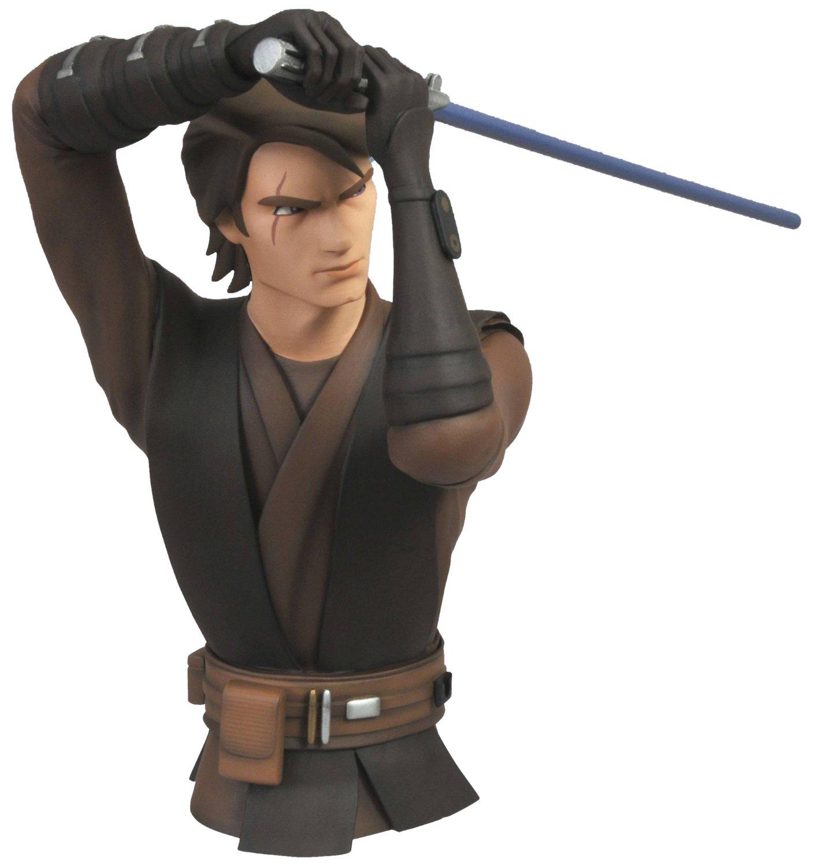 Diamond Select Toys Star Wars The Clone Wars: Anakin Skywalker Vinyl Bust Bank