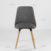 morden style fabric wood upholstered dinner chair