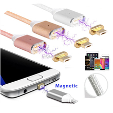 Led Cable high quality micro usb data cable For iPhone 7 mini Mobile Phone Charger Magnetic USB Cable