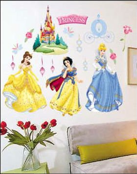 Fashion Princess Wall Sticker For Children's Room
