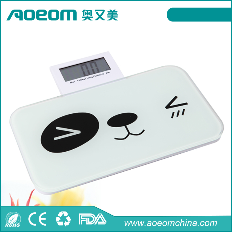 Cute folding type mini pocket personal bathroom weighing scale