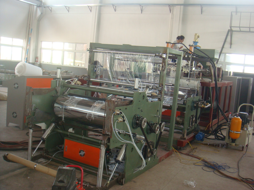 Plastic Film Extruder Machine Stretch Film Making Production Line Cast Stretch Film Manufacturing Machine