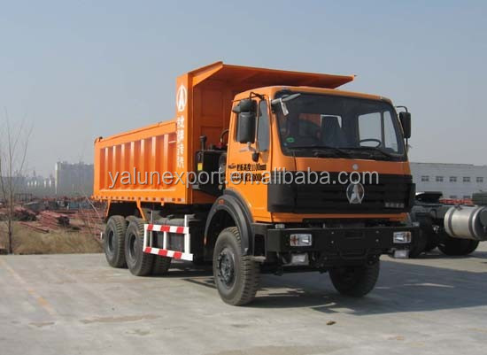China truck Beiben off road heavy dump truck 2634K 10 tyres 25ton tipper