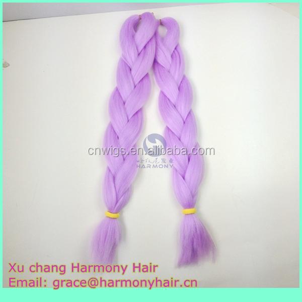 Hamrony Solid Colors Fantasy Lilac Lavender Jumbo Braid Hair