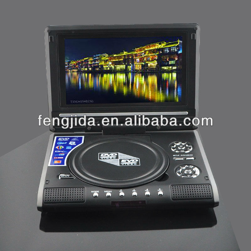 lcd dvd player with vga connection screen usb tv/fm