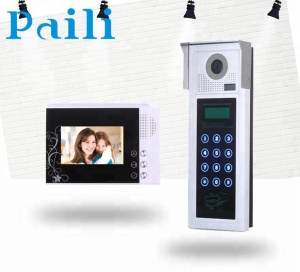 Home security doorbell entry intercom,video door phone with camera and monitor