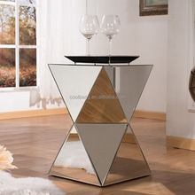 Coolbang New Design Industrial Venetian Small Mirrored Corner Table