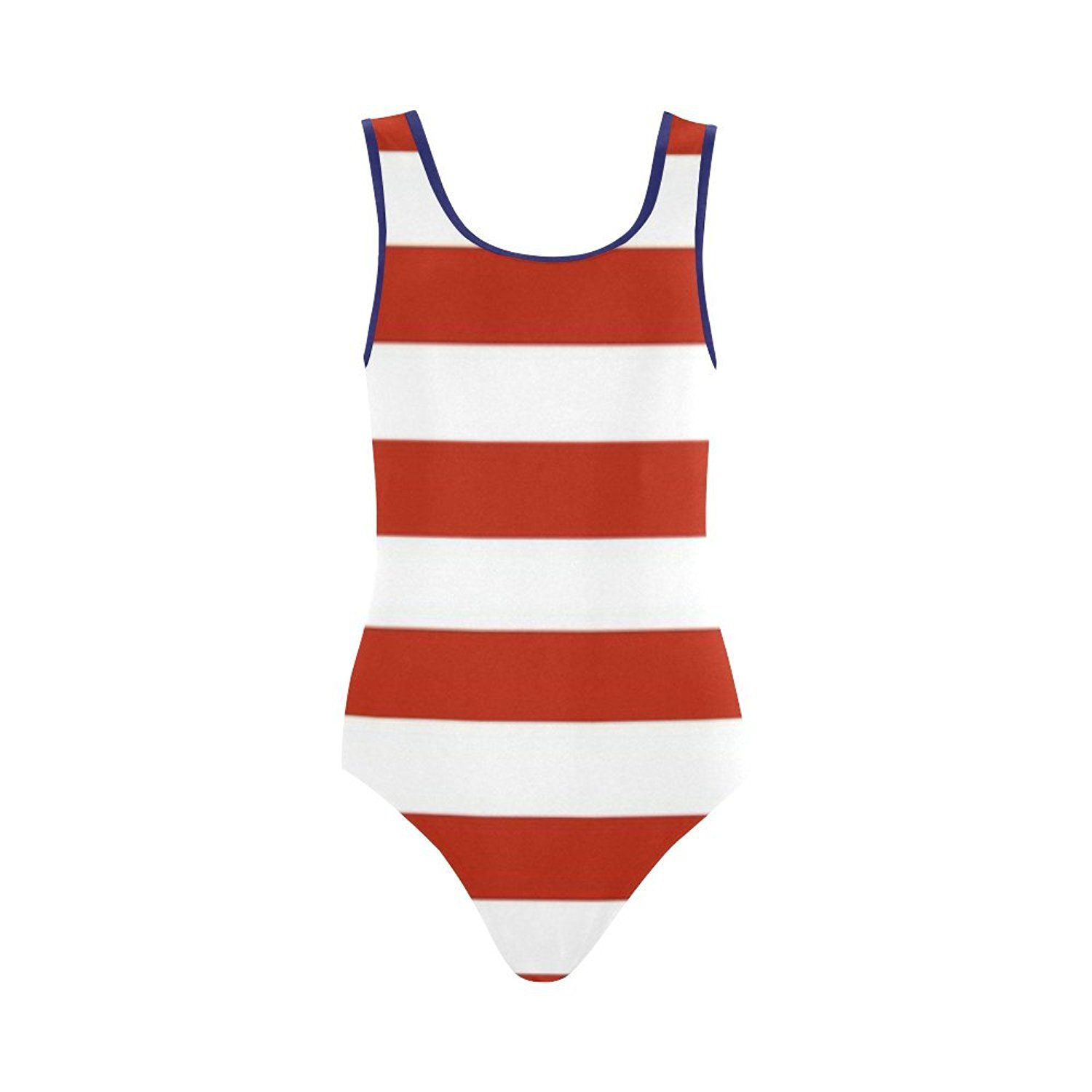 a6189219bd5ed Get Quotations · Find Arts Customized Red White And Blue Stripes And Stars  Swimsuit Vest One Piece Swimsuit Bathing