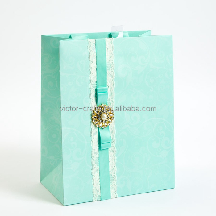 Wedding Brooch Large Gift Bag sealable paper bags
