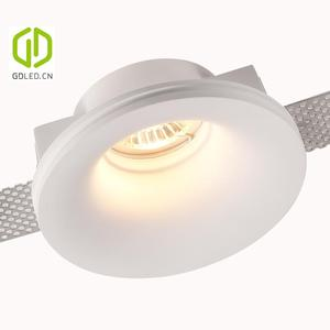 GDLED Cheap Trimless Gypsum Down Light GU10 , Gesso Spotlight for Home, Hotel, Corridor.