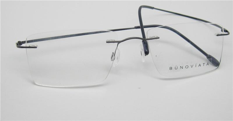 20d4fc0428 2018 Rimless Eyeglasses For Men Women De Oculos Infantil Rimless Metal Naturally  Rimless .