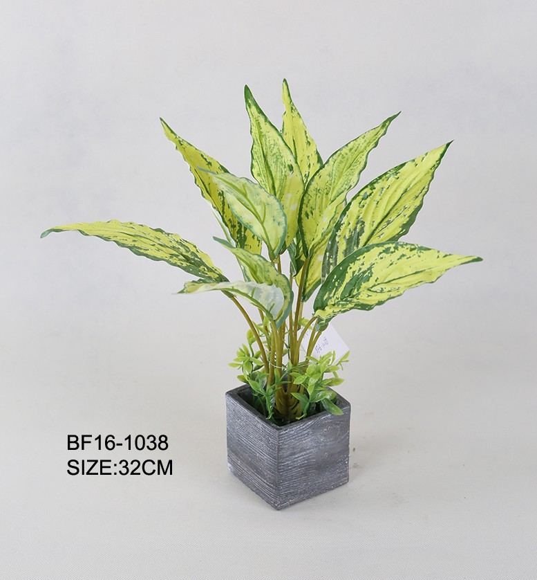 Artificial Tree/Artificial Green Plants/Light Green Artificial Tropical Plant Leaves