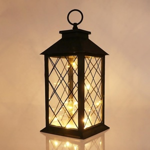 Ins Hot Grid String Lights Lantern Led Homedecor Lantern For Home and Holiday Decorative Lantern