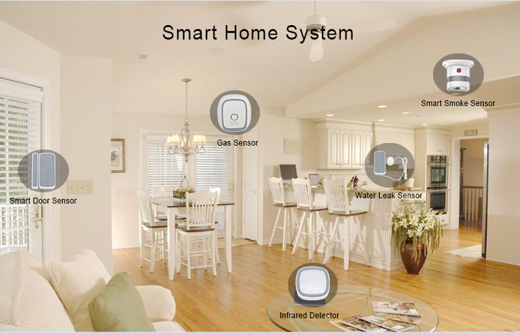 Home security automation wireless bluetooth water leak sensor alarm water leakage detector