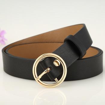 f120c003dbb44 Fashion Faux Leather Belt for Women Designer Ladies Belt with Golden Buckle