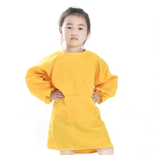 Free Logo Printing Various colored Polyester fabric Kids Drawing Apron