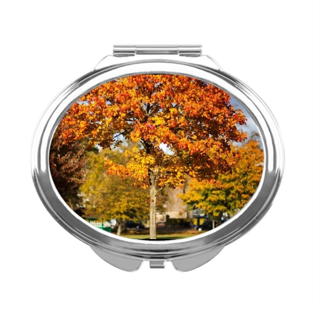 white0 Autumn Tree Makeup Mirror