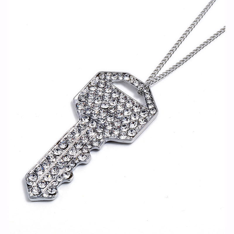 The New Fashion Silver Plated Key Pendant Necklace For Girls Gift Wholesale NS803075
