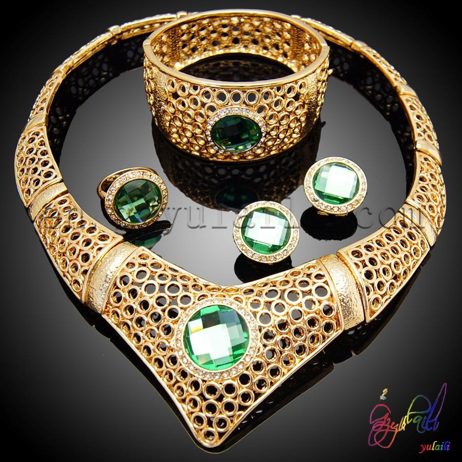 dubai joyas de oro conjunto mejor conjunto kundan chapado