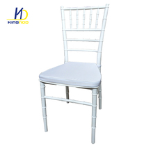 White Plastic Resin Chiavari Chair sillas chiavari For Outdoor Wedding