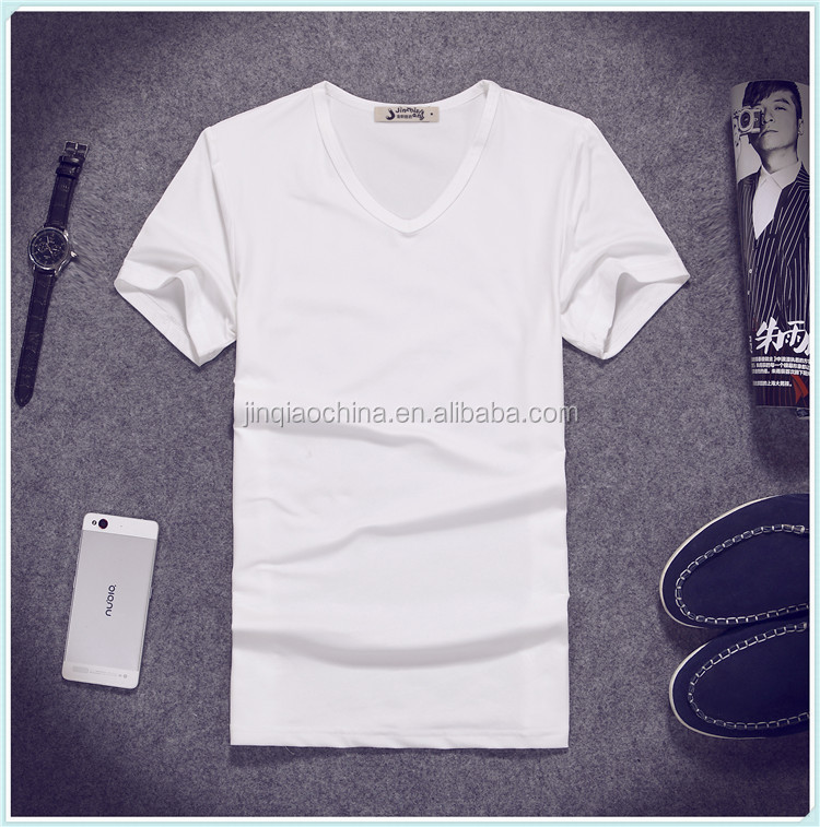 OEM factory cheap tshirt short sleeve 100% cotton overseas t shirt custom silk screen printing white men t shirt wholesale