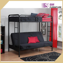School furniture double decker bunk bed frame for adult in bed