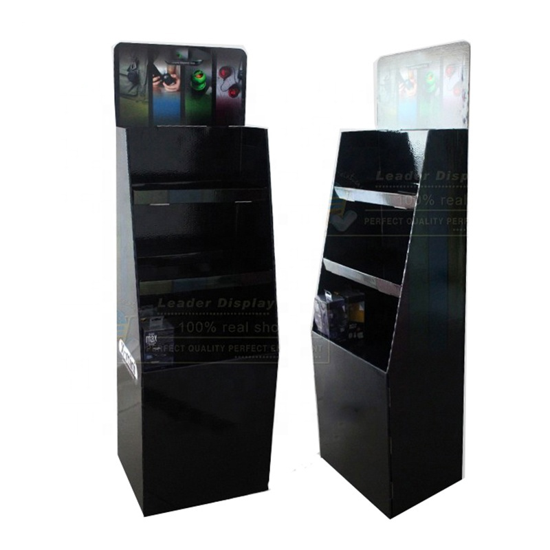 Supermarket Stable Promotion 3 Tiers Paper Floor Stand for Speakers