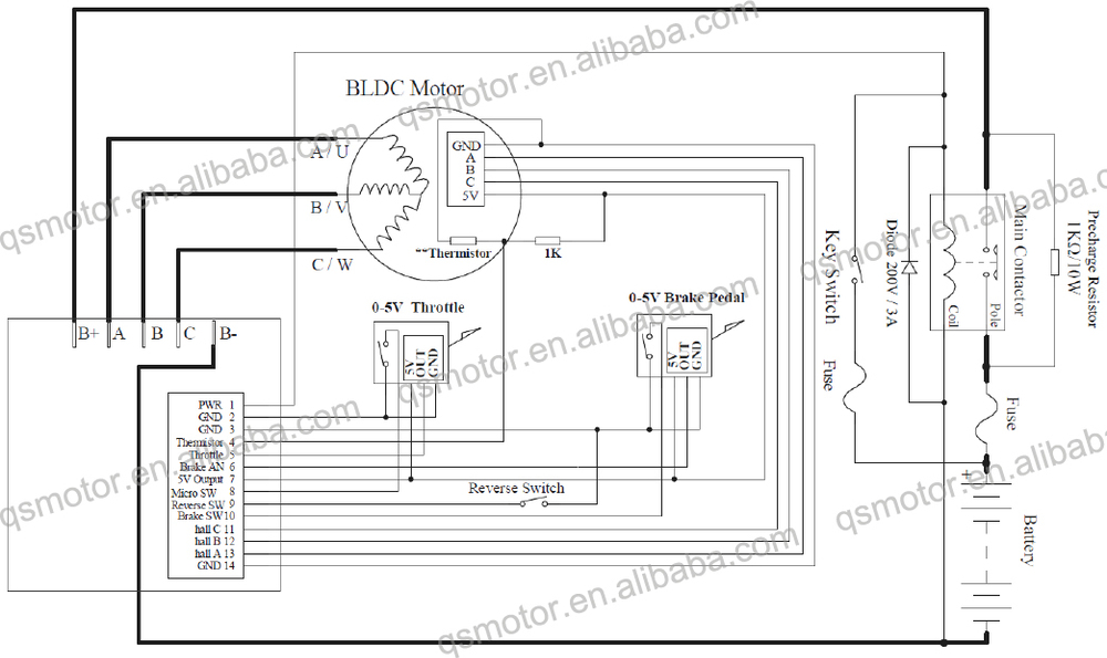 whole kelly keb72600x 24v 72v 280a 3kw e bike brushless circuit diagram kelly keb72600x 24v 72v 280a 3kw e bike brushless controller