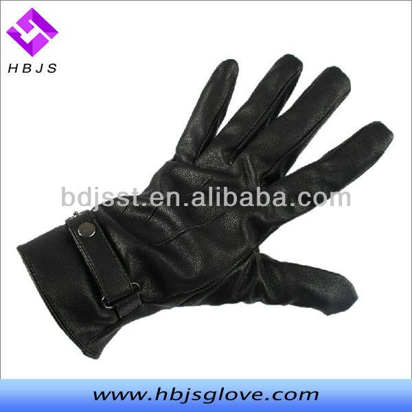 Largo negro montar apretada para hombre guantes de cuero-Guantes y ...