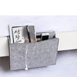 Top quality felt bedside bag felt sofa bedside organizer for storage