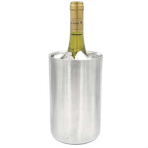 Stainless Steel Wine Chiller Vacuum Insulated Champagne Cooler Bucket for 750 ml Bottles
